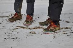 Koud, modder, sneeuw