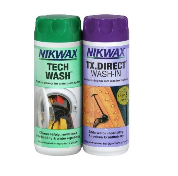 Nikwax Tech Wash & TX-Direct onderhoudsproducten
