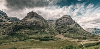 Locatie bergmarathon in Schotland