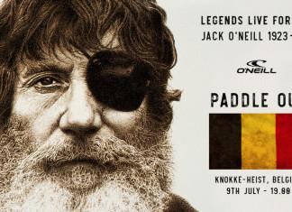 Paddle-out Jack O'Neill 9 juli