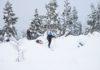Sneeuwtrekking in Finland