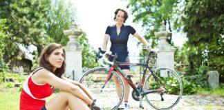 Saartje Vandendriessche op de fiets