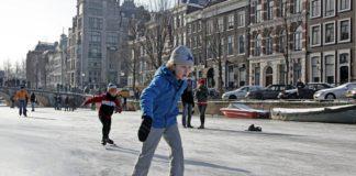 Schaatsen in Nederland - Keizersgracht Amsterdam