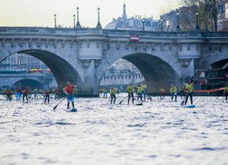 Watersport op de Seine in Frankrijk