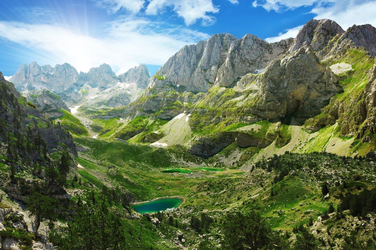 Albanese Alpen met Kriskras