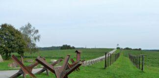 Iron curtain trail. Restant van het ijzeren gordijn.