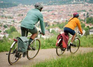 Vaude ReCycle Pro fietstas sfeerfoto
